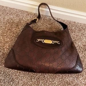 GUCCI🐱AUTHENTIC LEATHER JACKIE O GUCCISIMMA